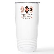Peace Love Veterinary Medicine Travel Mug
