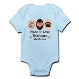 Peace Love Veterinary Medicine Onesie