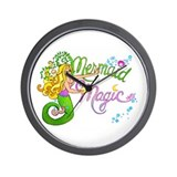 Mermaid Magic Wall Clock