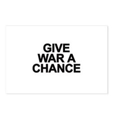 Cute Give war a chance Postcards (Package of 8)