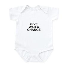 Cute Peace through superior firepower Infant Bodysuit