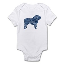 Bulldog Text Blue Infant Bodysuit