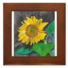 Sunflower Burst Framed Tile