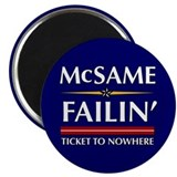"Ticket To Nowhere 2.25"" Magnet (10 pack)"