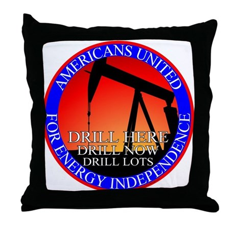 Energy Independence Throw Pillow