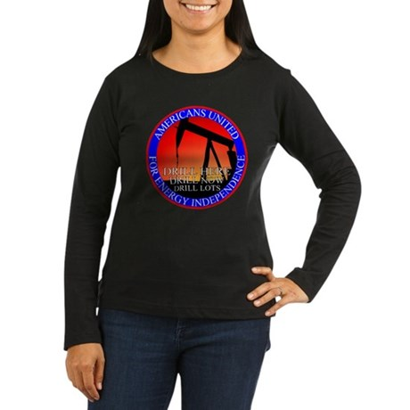 Energy Independence Women's Long Sleeve Dark T-Shi