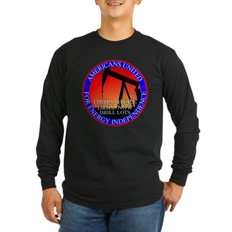 Energy Independence Long Sleeve Dark T-Shirt