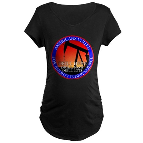 Energy Independence Maternity Dark T-Shirt