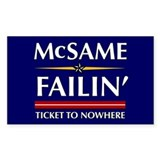 Ticket To Nowhere Rectangle Sticker 50 pk)
