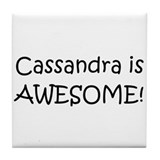 Cool Cassandra Tile Coaster