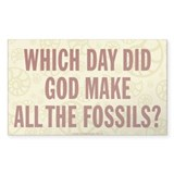 Which Day Did God Make Fossils? Stickers