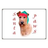 Santa Paws Irish Terrier Banner