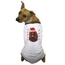 Santa Paws Irish Water Spanie Dog T-Shirt