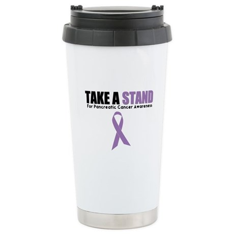 Pancreatic Cancer Stand Ceramic Travel Mug