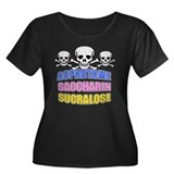 Sweet Women's Plus Size Scoop Neck Dark T-Shirt