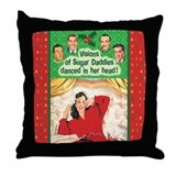 Visions of Sugar Daddies Throw Pillow