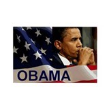 Thoughtful Obama Rectangle Magnet (10 pack)