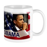 Thoughtful Obama Small Mug