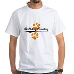 Bulldog Country White T-Shirt