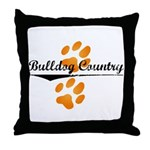 Bulldog Country Throw Pillow