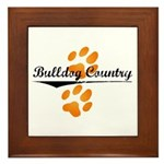 Bulldog Country Framed Tile