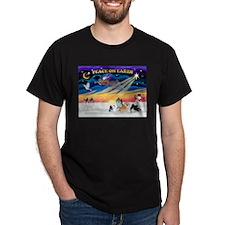 XmasSunrise/4 Pomeranians T-Shirt