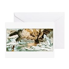 Satan Rising Greeting Cards (Pk of 10)