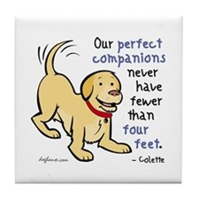 Four Feet (Dog) Tile Coaster