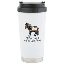 Too Cute Pony Ceramic Travel Mug