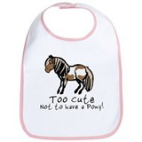 Too Cute Pony Bib
