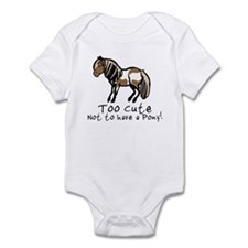 Too Cute Pony Infant Bodysuit