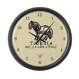 Too Cute Pony Large Wall Clock