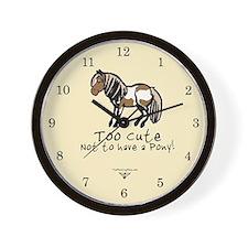 Too Cute Pony Wall Clock