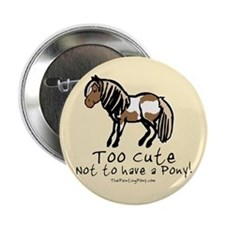 """Too Cute Pony 2.25"""" Button (100 pack)"""