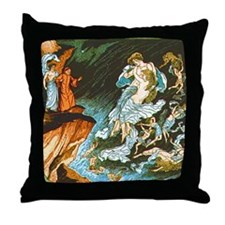 Dante's Inferno Throw Pillow