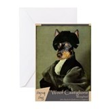 Manchester Terrier RAPHAEL Greeting Cards (Pk of 1