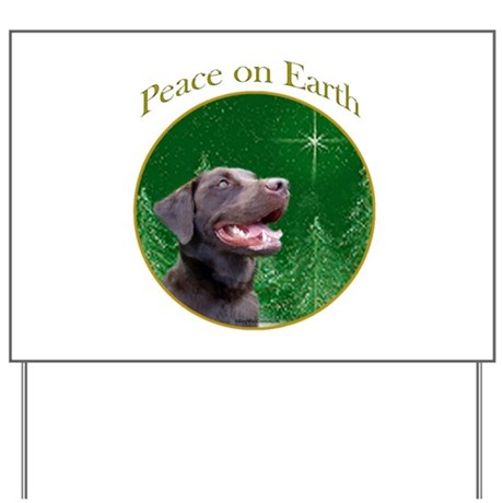 Chocolate Lab Peace Yard Sign