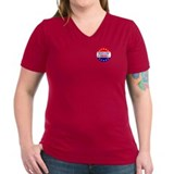 His Name Would Be Sarah Women's V-Neck Dark Tee