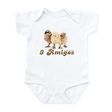 """3 Amigos"" chicks Infant Bodysuit"