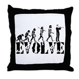 Trumpet Evolution Throw Pillow