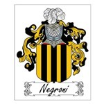 Negroni Family Crest Small Poster