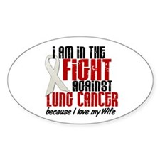 In The Fight 1 LC (Wife) Oval Decal