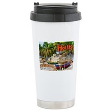 'Fishing Boats & Wall' Ceramic Travel Mug
