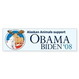 Alaskan Animals for Obama Bumper Bumper Sticker