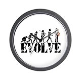 Sax Saxophone Evolution Wall Clock
