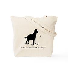 Faithfulness Black Tote Bag