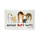 Dog Mutts (Mixed Breeds) Rectangle Magnet (10 pack