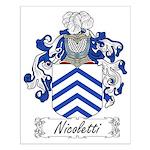 Nicoletti Family Crest Small Poster