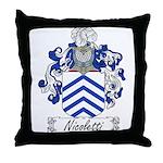 Nicoletti Family Crest Throw Pillow