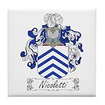 Nicoletti Family Crest Tile Coaster
